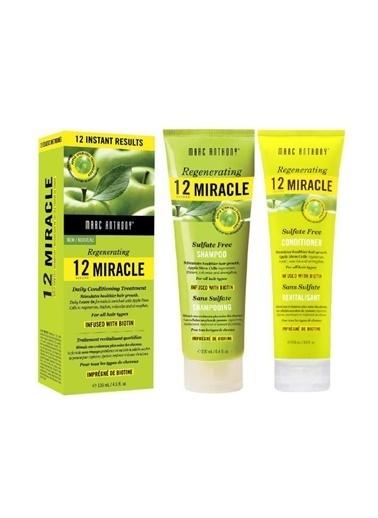 Marc Anthony Marc Anthony 12 Miracle Sülfatsız Dökülen Saç Şampuanı 250 Ml+Saç Kremi 250 Ml+Bakım Kürü 135 Ml Renksiz